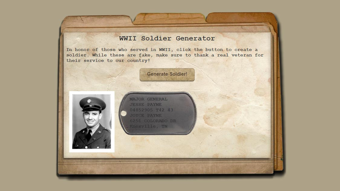 Favorite Pen of the Week: WWII Soldier Generator - SANTINI IO
